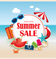 summer sale background banner design template vector image