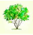 summer tree blots background vector image