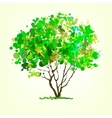 Summer tree of blots background vector image vector image