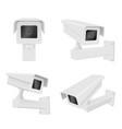 surveillance camera realistic set front side vector image vector image