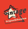 t-shirt print design vintage star stamp printing vector image vector image