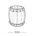 taiko in hand drawn style vector image
