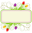 tulips spring frame vector image vector image