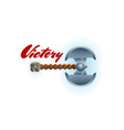victory game element with two blades axe vector image vector image