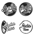 Vintage audio store emplems vector image