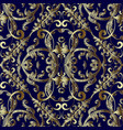 vintage embroidered gold baroque seamless vector image