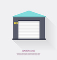 warehouse icons logistic blank vector image