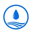 water drop and blue wave vector image vector image