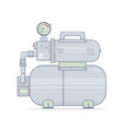 water pump pumping station for onli vector image vector image