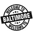 welcome to baltimore black stamp vector image vector image