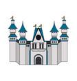 white castle icon image vector image