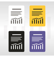 Report text file icon vector image