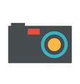 design of black digital photo camera ico vector image
