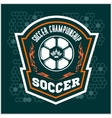 Soccer Badge - emblem on dark background vector image