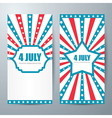 4 july card template vector image vector image