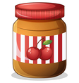 A cherry jam vector image vector image