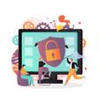antivirus concept for web banner website vector image