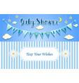 baboy shower invitation card design template vector image