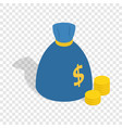 bag of money isometric icon vector image vector image