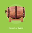 barrel wine on on green vector image vector image