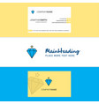 beautiful diamond logo and business card vertical vector image