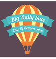 Big Day Sale Hot Air Balloon vector image vector image