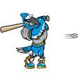 blue jay baseball sports logo mascot vector image vector image