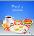 breakfast realistic set vector image