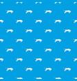 bull pattern seamless blue vector image vector image