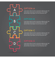 Business puzzle pieces infographic infographic b63 vector image vector image