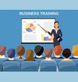 businesswoman making presentation vector image