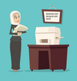 cartoon arab businesswoman tradidcional female vector image