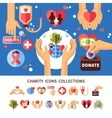 Charity Infographic Set vector image