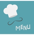 Chef hat and mustache Menu card Curl moustaches vector image vector image