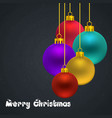 christmas card with pattern background and vector image vector image