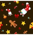 Christmass seamless pattern gingerbread man vector image vector image
