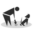 cleaning for the pet in the park waste vector image