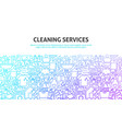 cleaning services concept vector image vector image