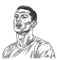 cristiano ronaldo portrait drawing vector image