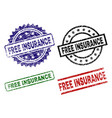 damaged textured free insurance seal stamps vector image vector image