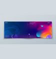 dark horizontal liquid abstract cover background vector image vector image