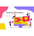 desktop messaging concept send and receive vector image