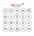 easy icons 07b money vector image vector image