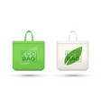 eco friendly shopping bags realistic vector image vector image
