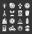 ecology icons set grey vector image vector image