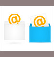 envelope with the letter vector image