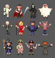 halloween children costume party kids vector image vector image