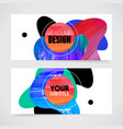 hand drawn painting abstract design for brochure vector image