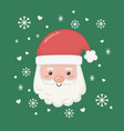 happy merry christmas card with santa claus vector image