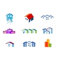 house logo design template town or vector image vector image